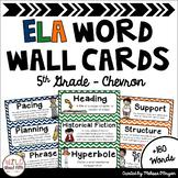 ELA Word Wall Editable - 5th Grade - Chevron