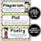ELA Word Wall Vocabulary Cards - 5th Grade - Rainbow Colors