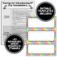 ELA Word Wall Editable - 5th Grade - Rainbow Colors