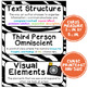 ELA Word Wall Vocabulary Cards - 6th Grade - Zebra