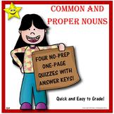 Common and Proper Nouns Quizzes
