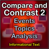 ELA Compare and Contrast 2: Events, Topics, and Analysis