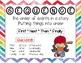 ELA Comprehension Skills Posters-Rainbow