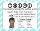 ELA Comprehension Skills Posters-Teal & Gray Chevron