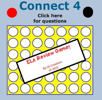 ELA Connect 4 Test Prep Review Game (CCSS/Georgia Milestones)