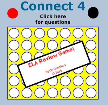 ELA Connect 4 Test Prep Review Game (CCSS/Georgia Milestones)