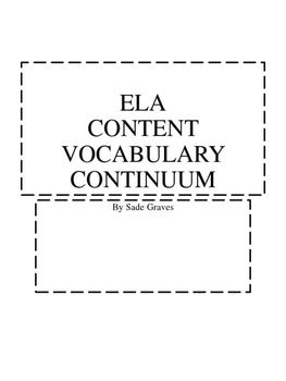 ELA Content Vocabulary Continuum