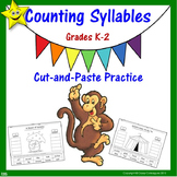 Syllables Cut and Paste Activities