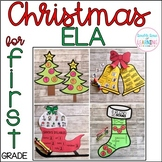 Christmas ELA Crafts for 1st Grade {digraphs, word familie