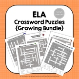 ELA Crossword Puzzles Bundle