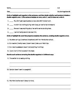 Negative Adjectives | Worksheet | Education.com