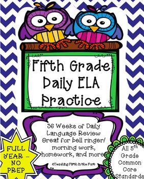 ELA Daily Morning Work/Bell Ringer NO PREP FULL YEAR Meets All CCSS Standards