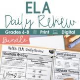 ELA Daily Review 6th - 8th Grade Bundle
