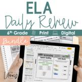 ELA Daily Review 6th Grade {GROWING BUNDLE}