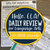 ELA Daily Review 6th Grade {BUNDLE}   Distance Learning  