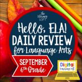 ELA Daily Review 6th Grade {September} I Distance Learning I Google Slides