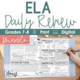 ELA Daily Review 7th & 8th Grade Bundle