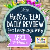 ELA Daily Review 7th Grade {April} I Distance Learning I Google Slides