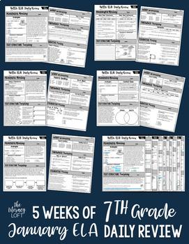 ELA Daily Review 7th Grade {January}