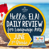 ELA Daily Review 7th Grade {June}   Distance Learning   Go