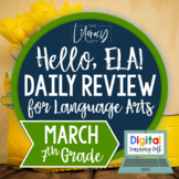 ELA Daily Review 7th Grade {March} I Distance Learning I Google Slides