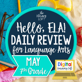 ELA Daily Review 7th Grade {May}   Distance Learning   Goo