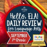 ELA Daily Review 7th Grade {September} I Distance Learning I Google Slides
