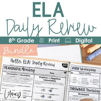 ELA Daily Review 8th Grade