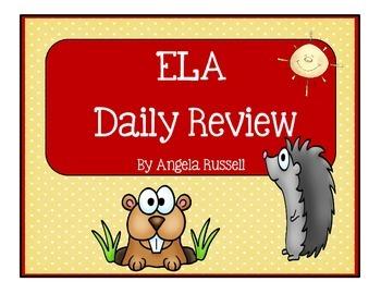 ELA Daily Review Worksheets