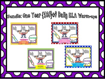 ELA Daily Warm-Ups Bundle One Year    {180 warm-ups / homework}