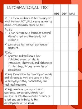 ELA Data Notebook - COMMON CORE GRADE 6