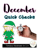 ELA December Quick Checks: No Prep Printables for Progress