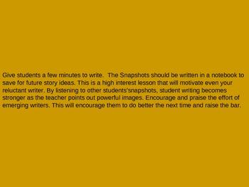 ELA Descriptive Writing