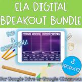 ELA Digital Breakout Bundle | Escape Room Activities