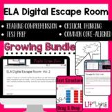 ELA Digital Escape Room GROWING Bundle | Distance Learning