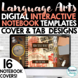 ELA Digital Interactive Notebook Templates Covers    Googl