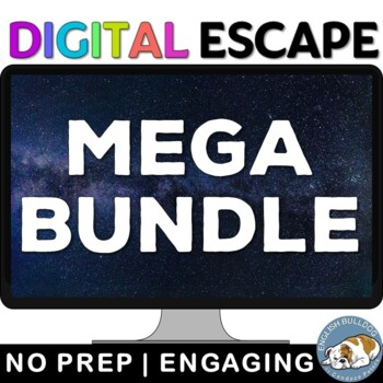 ELA Digital Lock Box Escape Room Game Bundle