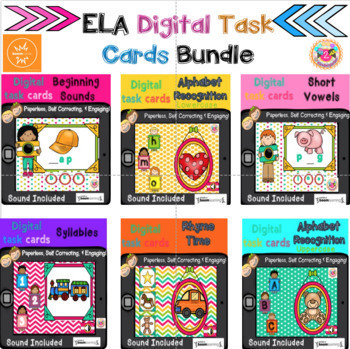 ELA Digital Task Cards Bundle (BOOM cards)