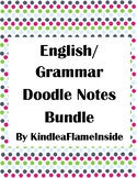 ELA Doodle Notes: Parts of Speech Bundle