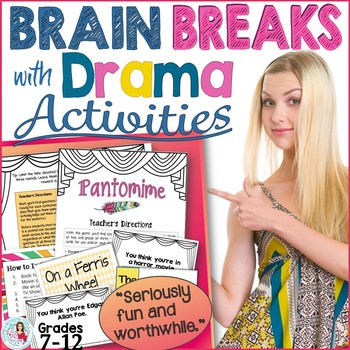 ELA Drama Games for Brain Breaks: Differentiation, Engagement Gr. 7-12