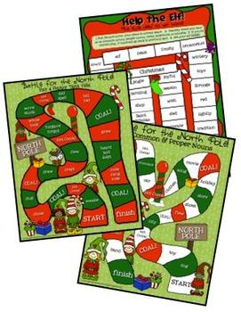 ELA ELF  Holiday Grammar Bundle!  100+ Task Cards, Games, & More