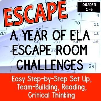 ESCAPE ROOM ELA BUNDLE Team Building, Reading, Writing, Critical Thinking