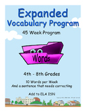 4th through 8th grades ELA EXPANDED VOCABULARY/ISN Additional Full Year