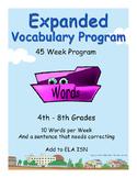 4th through 8th grades ELA EXPANDED VOCABULARY/ISN Additio