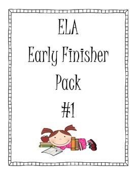 ELA Early Finisher Pack #1