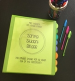 Secondary ELA Editable Student Binder Packet