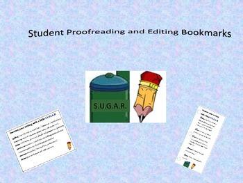 ELA Editing and Proofreading Reminders Bookmark