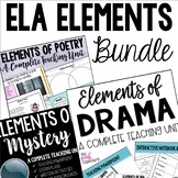 ELA Elements Bundle - Drama, Poetry, and Mystery Genres