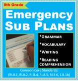 ELA: Emergency Sub Plans - 8th Grade