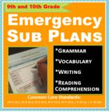 ELA: Emergency Sub Plans - 9th and 10th Grade